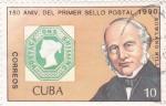 Sellos de America - Cuba -  150 ANIV.PRIMER SELLO POSTAL-