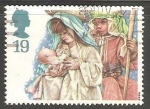 Sellos de Europa - Reino Unido -  Maria y Jose con niño Jesus