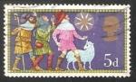 Sellos de Europa - Reino Unido -  Tres pastores y la estrella de Belén,