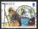 Sellos de Europa - Reino Unido -  Jesus y Maria huida a Egipto