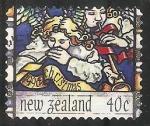 Stamps New Zealand -  Angeles de Navidad