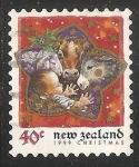 Stamps New Zealand -  Jesus y animalitos