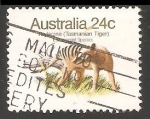Stamps Australia -  Tasmanian tiger-lobo marsupial