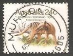 Sellos de Oceania - Australia -  Tasmanian tiger-lobo marsupial