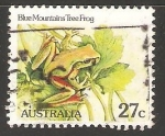 Sellos de Oceania - Australia -  Blue mountains tree frog-rana de árbol