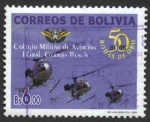 Stamps of the world : Bolivia :  50 Aniversario del Colegio Militar de Aviacion