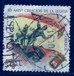 Stamps Spain -  50 Anivr.Creacion de la legion