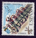 Stamps Spain -  50 Anivr.Creacion de la legion