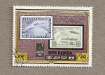 Sellos de Asia - Corea del norte -  50 Aniv. del vuelo del Zeppelin al Polo Norte