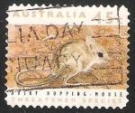 Sellos de Oceania - Australia -  Dusky hopping mouse-Ratón salto oscuro