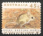 Stamps Australia -  Dusky hopping mouse-Ratón salto oscuro