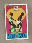 Stamps North Korea -  Historia copa mundial Fútbol