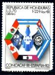 Stamps : America : Honduras :  HONDURAS_SCOTT C705.02 COPA DE FUTBOL CONCACAF.$ 1,00
