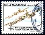 Sellos de America - Honduras -  HONDURAS_SCOTT C712.01 50º ANIV FUERZAS AEREAS, CESSNA A37-B. $0,50