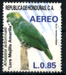 Stamps : America : Honduras :  HONDURAS_SCOTT C760.02 LORA MEJILLA AMARILLA. $0,65