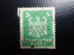 sellos de Europa - Alemania -  DEUTSCHES REICH 1924 Scott331 Sello Serie Aguila Alemania Mitchel357