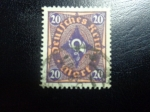 sellos de Europa - Alemania -  Alemania 1922 Scott 182 Sello º Post Horn 20 Deutsches Reich Allemagne Germany Germania Deutschland