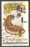 Sellos del Mundo : Europa : Checoslovaquia :  ILUSTRACIÓN DE ANIMALES- MIRKO HANAK
