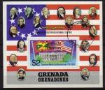 Stamps Grenada -  GRENADA GRENADINES 1975 Sello HB B12 200 Aniversario Independencia Americana Usado