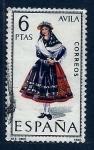 Stamps Spain -  Trages regionales (Avila)