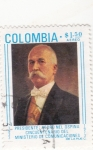 Stamps Colombia -  PRESIDENTE PEDRO NEL OSPINA