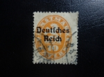 Sellos del Mundo : Europa : Alemania : Insignia de la serie 1920, funcionarios baviera con sobre impresion