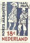 Stamps Netherlands -  TRICENTENARIO DE LA INFANTERIA DE MARINA. SOLDADOS DE LOS SIGLOS XVII Y XX. YVERT NL 829
