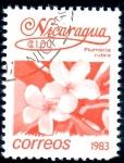 Stamps : America : Nicaragua :  NICARAGUA_SCOTT 1217 PLUMERIA RUBRA. $0,20