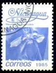 Stamps : America : Nicaragua :  NICARAGUA_SCOTT 1522 NEOMARICA COERULEA. $0,20