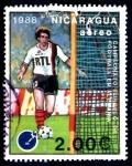 Stamps : America : Nicaragua :  NICARAGUA_SCOTT 1695.02 CAMPEONATO EUROPEO DE FUTBOL, ALEMANIA 88. $0,20