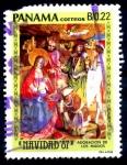 Stamps : America : Panama :  PANAMA_SCOTT 734.02 NAVIDAD 87, ADORACION DE LOS MAGOS, DE ALBRECHT NENTZ. $0,35