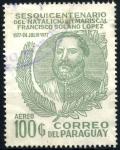 Sellos de America - Paraguay -  PARAGUAY_SCOTT 1754.03 150º ANIV NATALICIO MARISCAL FRANCISCO SOLANO LOPEZ. $0,75