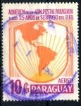 Stamps Paraguay -  PARAGUAY_SCOTT C606 25º ANIV BANCO INTERAMERICANO. $0,20