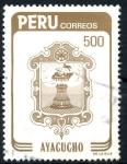 Sellos de America - Perú -  PERU_SCOTT 816.01 ESCUDO CIUDAD DE AYACUCHO. $1,40