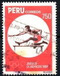 Stamps : America : Peru :  PERU_SCOTT 822.02 CARRERA VALLAS, JUEGOS OLIMPICOS 1984. $0,85