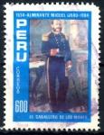 Sellos del Mundo : America : Perú :  PERU_SCOTT 824a 150º ANIV ALMIRANTE MIGUEL GRAU. $0,45