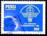 Stamps : America : Peru :  PERU_SCOTT 858.01 14º JORNADAS IBEROAMERICANAS DEFENSA AEREA. $0,60