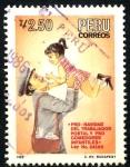 Stamps Peru -  PERU_SCOTT 864A.01 PRO NAVIDAD CARTERO, Y COMEDORES INFANTILES. $0,5