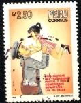 Sellos de America - Perú -  PERU_SCOTT 864A.02 PRO NAVIDAD CARTERO, Y COMEDORES INFANTILES. $0,5