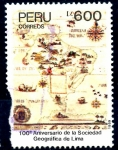 Stamps : America : Peru :  PERU_SCOTT 959 100º ANIV SOCIEDAD GEOGRAFICA DE LIMA. $0,95