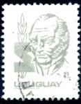 Stamps : America : Uruguay :  URUGUAY_SCOTT 1077 ARTIGAS. $0,25