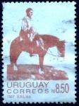 Stamps : America : Uruguay :  URUGUAY_SCOTT 1165 ARTIGAS EN LAS LLANURAS. $0,25