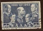 Sellos de Europa - Grecia -  Monarcas de Grecia