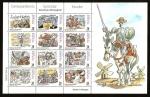 sellos de Europa - España -  Correspondencia Epistolar Escolar - Escenas del Quijote  HB