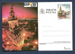 sellos de Europa - España -  Tarjeta entero Postal  - Expo 92 Sevilla   - La Giralda