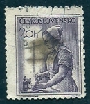 sellos de Europa - Checoslovaquia -  ENFERMERA