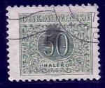 Sellos de Europa - Checoslovaquia -  CIFRA