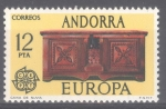 Stamps : Europe : Andorra :  ANDORRA_SCOTT 93.02 Europa. $1.10