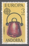Stamps : Europe : Andorra :  ANDORRA_SCOTT 92.01 Europa. $0.40
