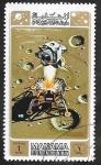 Stamps : Asia : United_Arab_Emirates :  Manama - Apolo 15, Conquista espacial